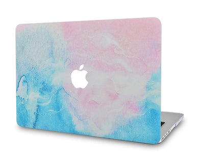Macbook Case - Marble Collection - Pink Blue Marble