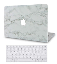 Load image into Gallery viewer, Macbook Case Bundle - Marble Collection - White Marble with Grey Veins with Keyboard Cover