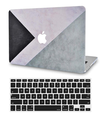 Macbook Case Bundle - Color Collection - Black White Grey with Keyboard Cover