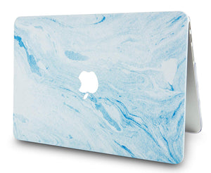 Macbook Case - Marble Collection - Blue White Marble 3