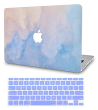 Load image into Gallery viewer, Macbook Case Bundle - Paint Collection - Blue Mist with Keyboard Cover