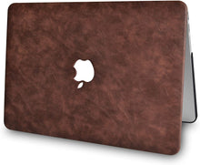 Load image into Gallery viewer, Macbook Case Bundle - Leather Collection - Brown Cow Leather with Keyboard Cover and Screen Protector and Sleeve