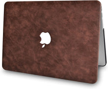 Load image into Gallery viewer, Macbook Case 4 in 1 Bundle - Leather Collection - Brown Cow Leather with Keyboard Cover, Screen Protector and Pouch