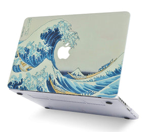 Macbook Case Bundle - Paint Collection - Japanese Wave with Keyboard Cover