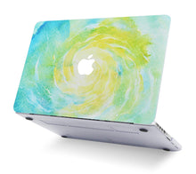 Load image into Gallery viewer, Macbook Case - Marble Collection - Green Yellow Marble