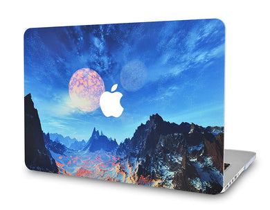 Macbook Case - Paint Collection - Mountain with Moon