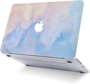 Macbook Case Bundle - Paint Collection - Blue Mist with Keyboard Cover and Webcam Cover