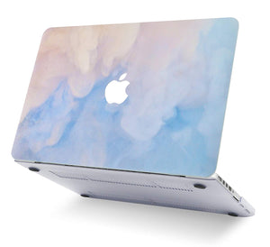 Macbook Case 5 in 1 Bundle - Paint Collection - Blue Mist with Slim Sleeve, Keyboard Cover, Screen Protector and Pouch