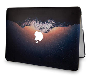 Macbook Case 5 in 1 Bundle - Color Collection - Shooting Stars with Slim Sleeve, Keyboard Cover, Screen Protector and Pouch