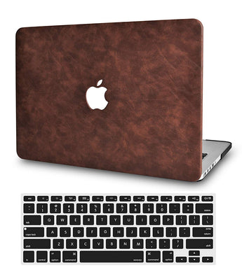 Macbook Case Bundle - Leather Collection - Brown Cow Leather with Keyboard Cover