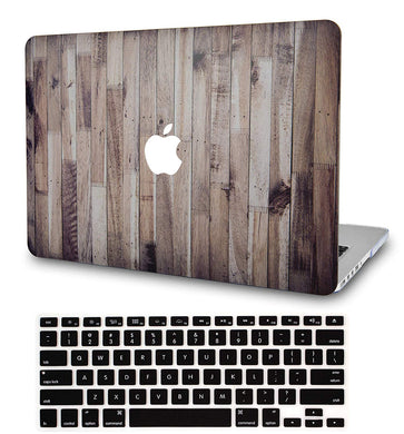 Macbook Case Bundle - Wood Collection - Wooden with Keyboard Cover