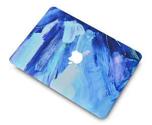 Macbook Case 5 in 1 Bundle - Paint Collection - Oil Paint 5 with Sleeve, Keyboard Cover, Screen Protector and Mouse Pad