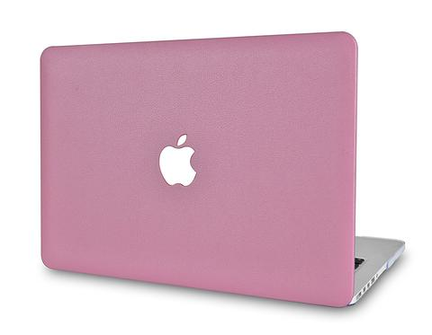 Macbook Case - Leather Collection - Pink Leather
