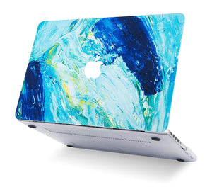 Macbook Case Bundle - Paint Collection - Ocean with Keyboard Cover