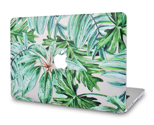 Macbook Case Bundle - Flower Collection - Rainforest with Keyboard Cover