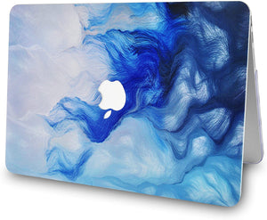 Macbook Case 4 in 1 Bundle - Paint Collection - Mist 12 with Keyboard Cover, Screen Protector and Pouch