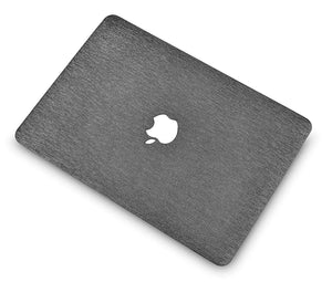 Macbook Case - Leather Collection - Silver Grey Leather