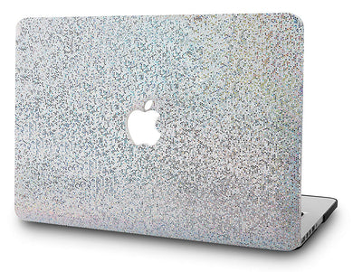 Macbook Case - Color Collection -  Silver Glitter