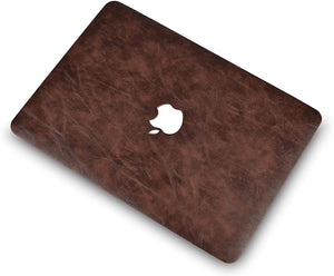 Macbook Case 4 in 1 Bundle - Leather Collection - Brown Cow Leather with Keyboard Cover, Screen Protector and Pouch