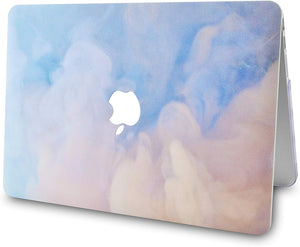Macbook Case Bundle - Paint Collection - Blue Mist with Keyboard Cover and Screen Protector