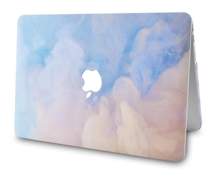 Macbook Case Bundle - Paint Collection - Blue Mist with Keyboard Cover