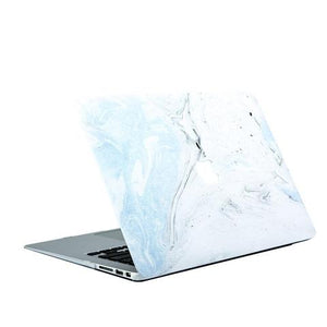 Macbook Case - Marble Collection - Baby Blue Fossil