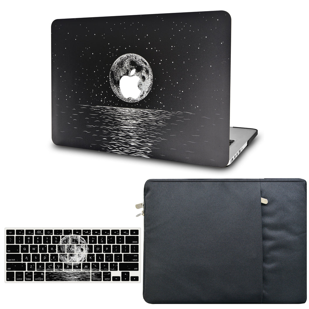 Macbook Case - Color Collection - Moon with with Matching Keyboard Cover and Sleeve