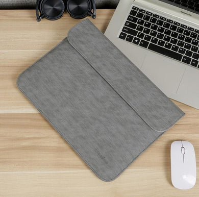 Laptop Sleeve - Leather Collection - 13 inch - Dark Grey Horizontal