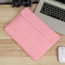 Load image into Gallery viewer, Laptop Sleeve - Leather Collection - 13 inch - Light Pink Horizontal
