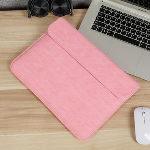 Laptop Sleeve - Leather Collection - 13 inch - Light Pink Horizontal