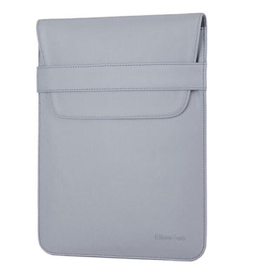 Laptop Sleeve - Leather Collection - 13 inch - Light Grey Envelope Vertical