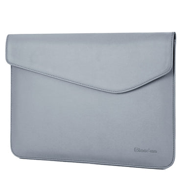 Laptop Sleeve - Leather Collection - 13 inch - Light Grey Envelope Horizontal