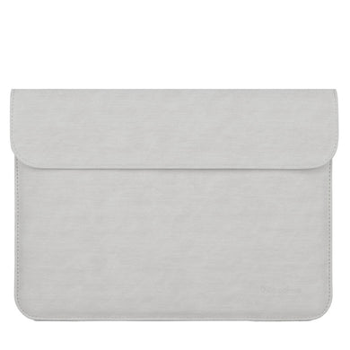 Laptop Sleeve - Leather Collection - 13 inch - Light Grey - Horizontal