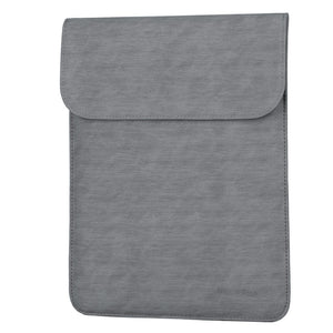 Laptop Sleeve - Leather Collection - 13 inch - Dark Grey Vertical