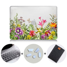 Load image into Gallery viewer, Macbook Case Bundle - Floral Collection - Ericaceae with US/CA Keyboard Cover, Dust Plug and Sleeve