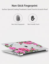 Load image into Gallery viewer, Macbook Case Bundle - Floral Collection - Lavender and Pink Sakura with US/CA Keyboard Cover, Dust Plug and Sleeve