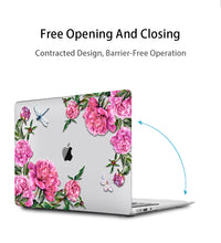 Load image into Gallery viewer, Macbook Case Bundle - Floral Collection - Garden Bird with US/CA Keyboard Cover, Dust Plug and Sleeve