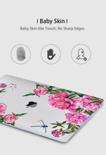 Load image into Gallery viewer, Macbook Case Bundle - Floral Collection - Coral Floral with US/CA Keyboard Cover, Dust Plug and Sleeve