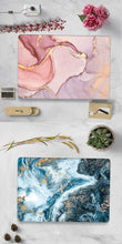 Load image into Gallery viewer, Macbook Case Bundle - Marble Collection - Coral Red Marble with US/CA Keyboard Cover, Dust Plug and Sleeve