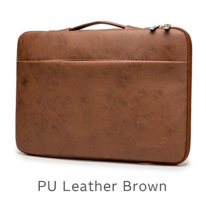 "Laptop Handbag Sleeve Case For Laptop 12"",13"",14"",15"",15.6"",Bag For MacBook Air Pro 13.3,15,4 - Brown Leather"