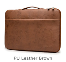 "Load image into Gallery viewer, Laptop Handbag Sleeve Case For Laptop 12"",13"",14"",15"",15.6"",Bag For MacBook Air Pro 13.3,15,4 - Brown Leather"