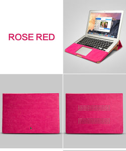 Macbook Leather Stand Cover Case - Pink