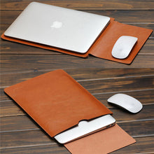 Load image into Gallery viewer, Macbook / Notebook Leather Sleeve Pouch Case