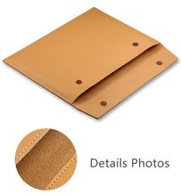 "Load image into Gallery viewer, Laptop PU Leather Envelope Sleeve Case For MacBook 13.3"",15.4"",11"" - Cross Khaki"