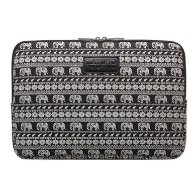 Macbook / Laptop / iPad / Tablet Sleeve - Black Elephant