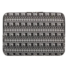 Load image into Gallery viewer, Macbook / Laptop / iPad / Tablet Sleeve - Black Elephant
