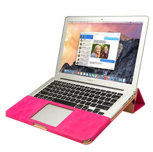 Load image into Gallery viewer, Macbook Leather Stand Cover Case - Pink