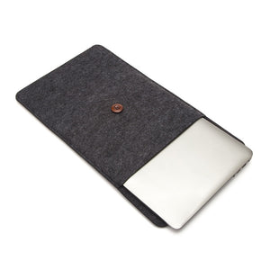Laptop Woolfelt Cover Case 11 12 13 15 Inch - Black