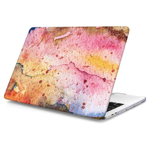 Macbook Case Bundle - Macbook Case and Keyboard Cover - Paint Collection - Orange Paint