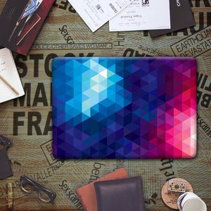 Macbook Case - Paint Collection - Blue Red Ombre